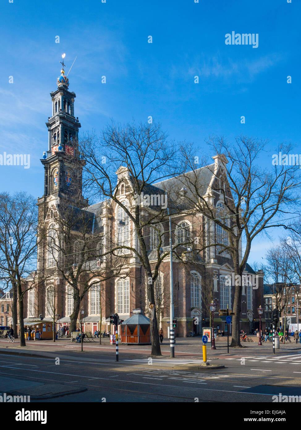 Westerkerk ('western Church') (1620-1631), a Dutch Protestant church, Amsterdam, Holland. - Stock Image