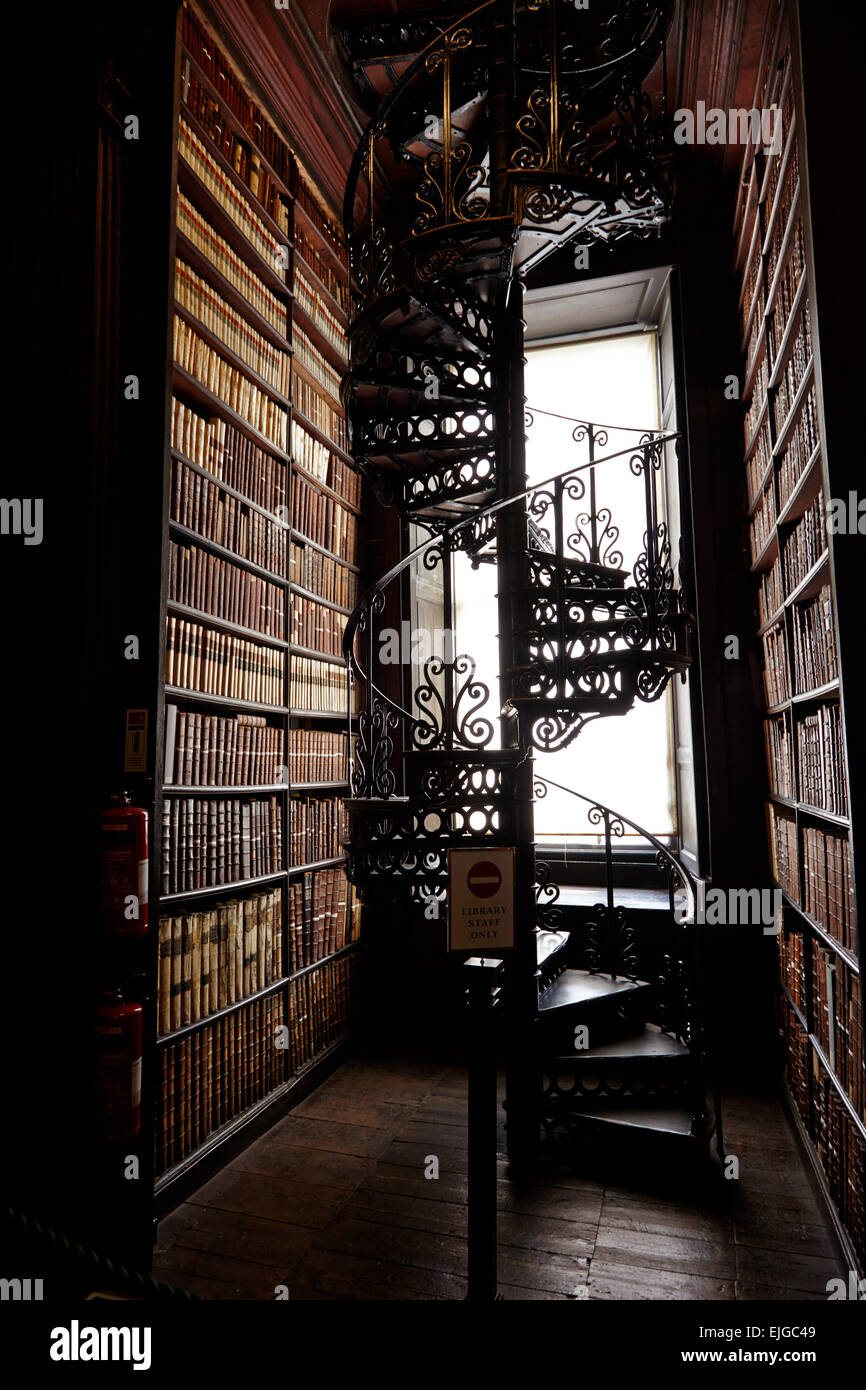 Innerview of the Old Library of Trinity College Dublin, Ireland - Stock Image