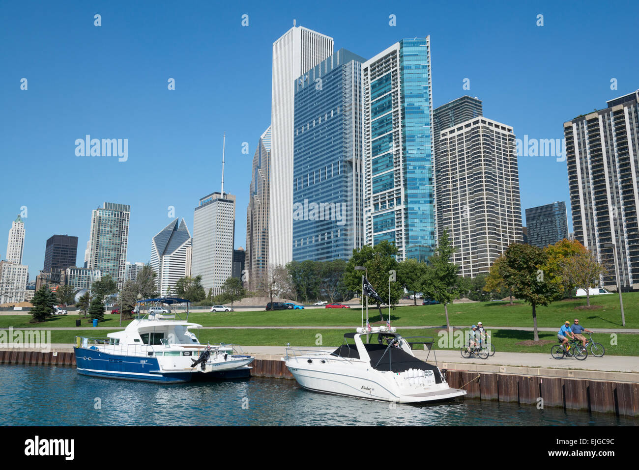 Lakefront. Downtown Chicago. Illinois. USA. - Stock Image