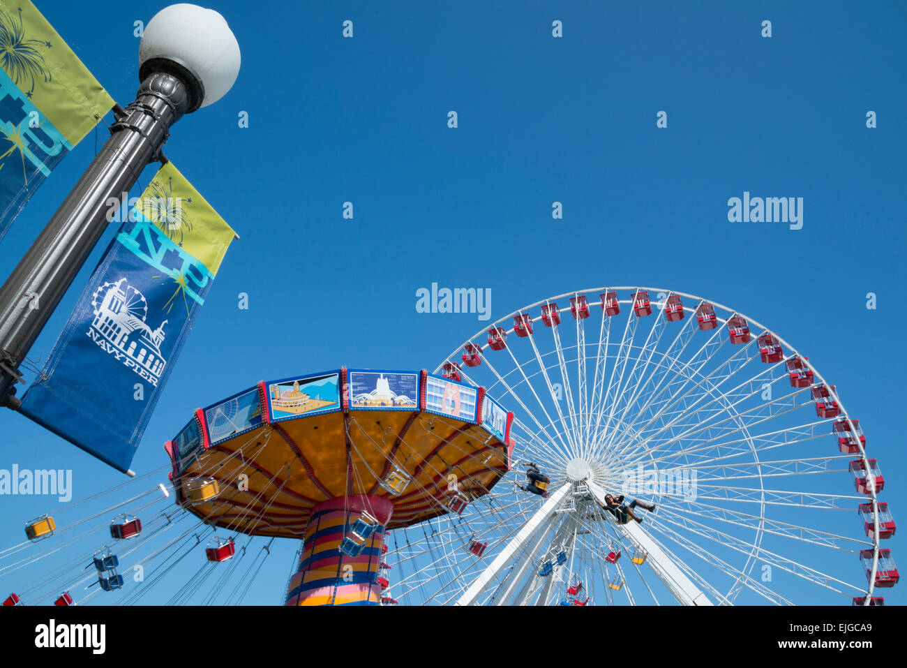 Navy pier. Downtown Chicago. Illinois. USA. - Stock Image
