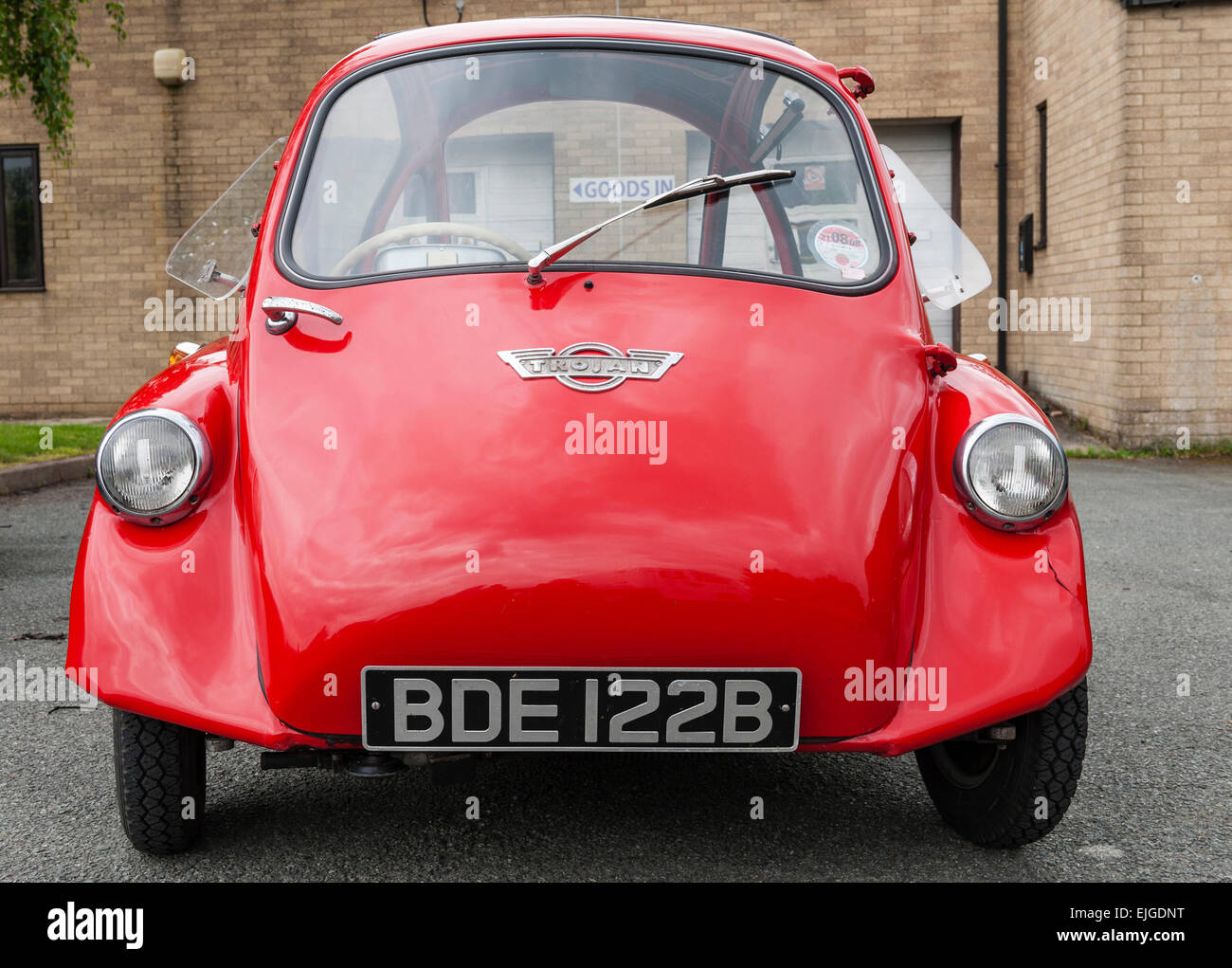 A three-wheeled Trojan 200 bubble car or microcar dating from the ...