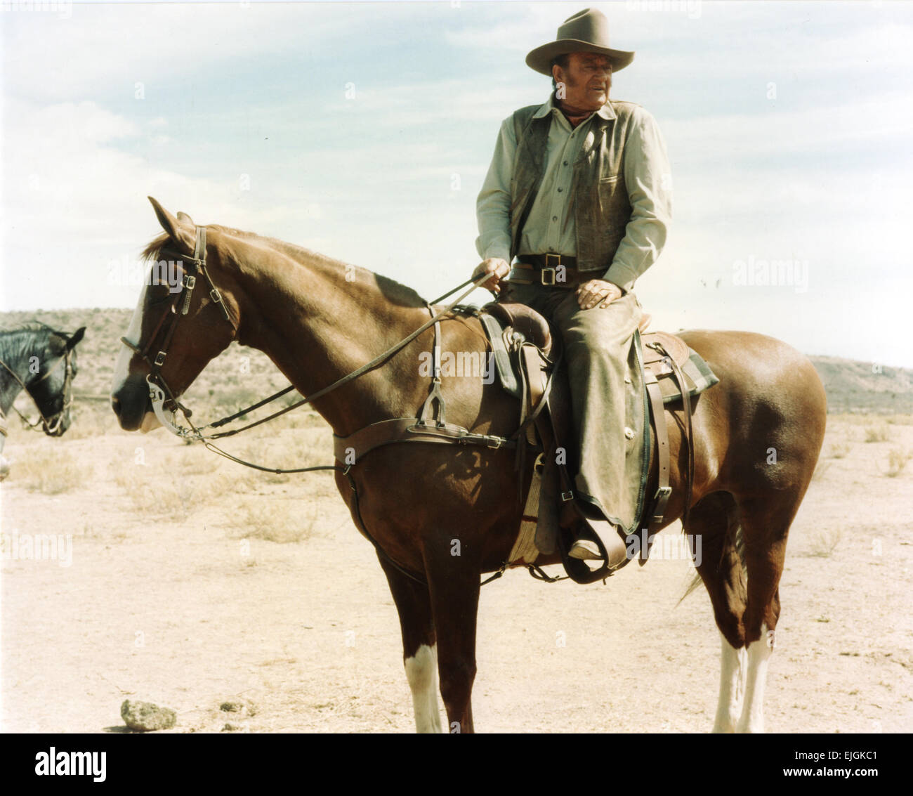JOHN WAYNE (1907-1979) US film actor famous for his roles in Western films - Stock Image