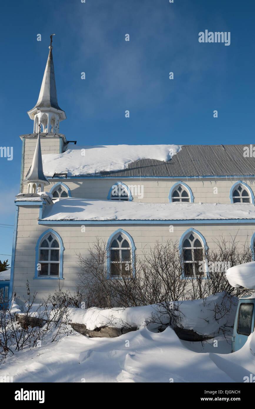 St Joseph Church Cree community of Chisasibi James Bay Northern Quebec - Stock Image