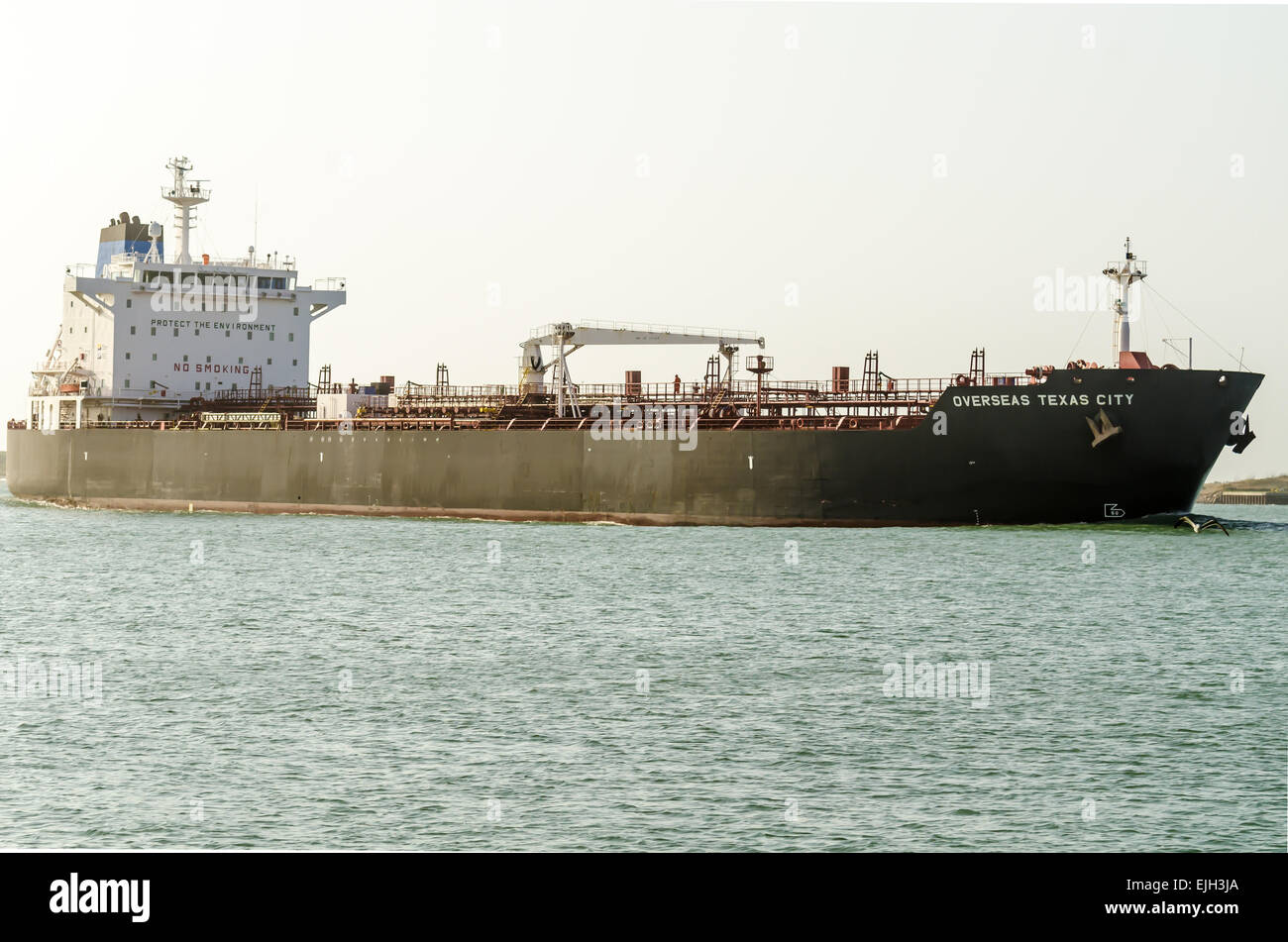 OVERSEAS TEXAS CITY TANKER Gross Tonnage: 29242 Summer DWT: 46803 t Built 2008 Flag: U.S.A. Home port: WILMINGTON - Stock Image