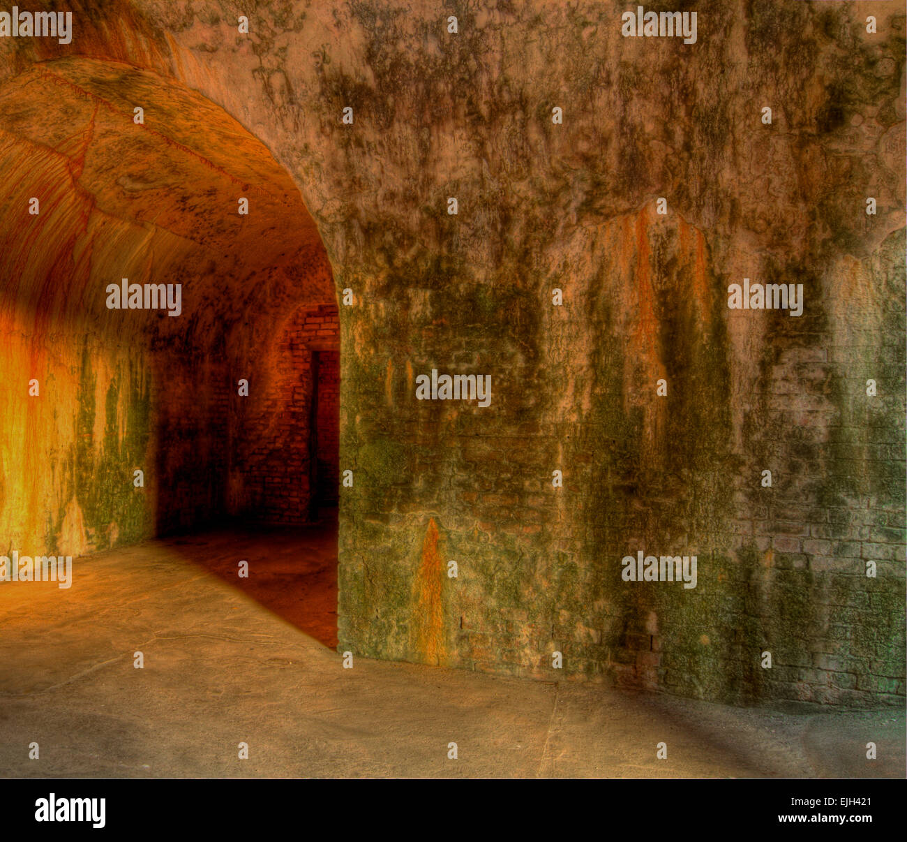A broad foreboding tunnel. - Stock Image