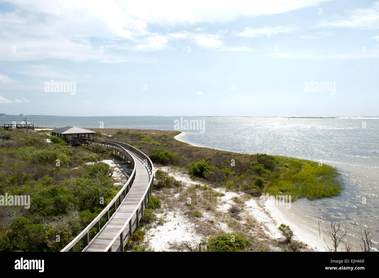 A view of the bay along Big Lagoon State Park in Pensacola Florida Stock Photo