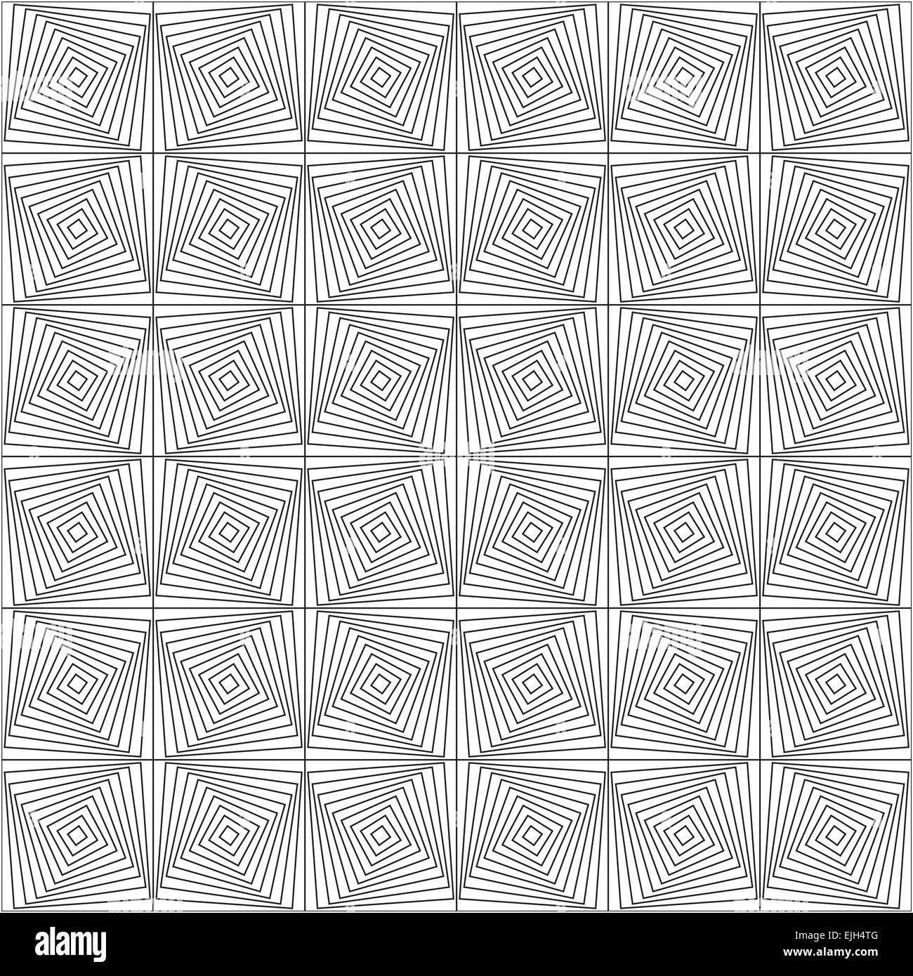 Symmetrical Geometric Shapes Black And White Vector Textile Backdrop. Can  Be Use As Fabric Tablecloth Pattern.