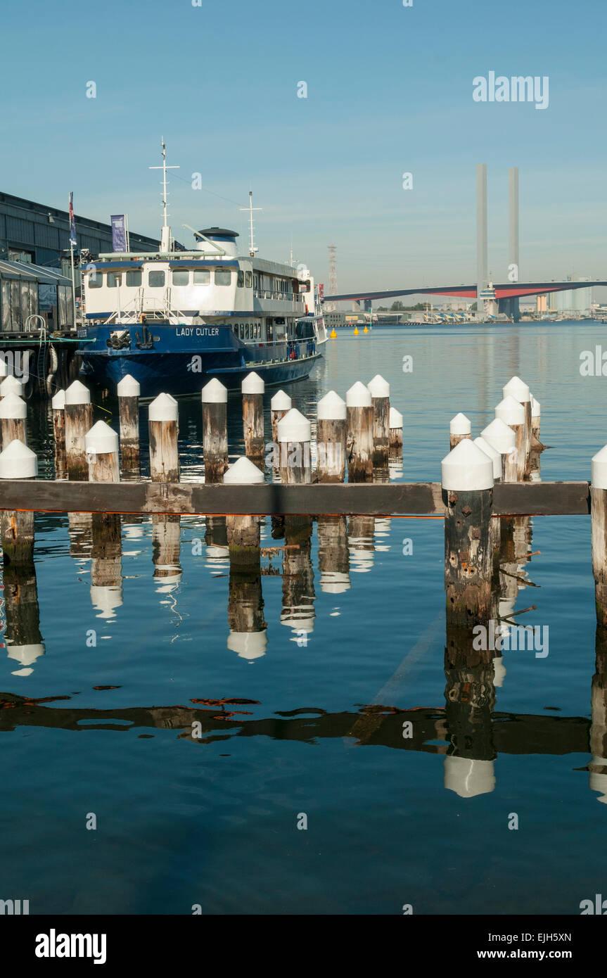 Central Pier, Docklands, Melbourne, Victoria, Australia - Stock Image