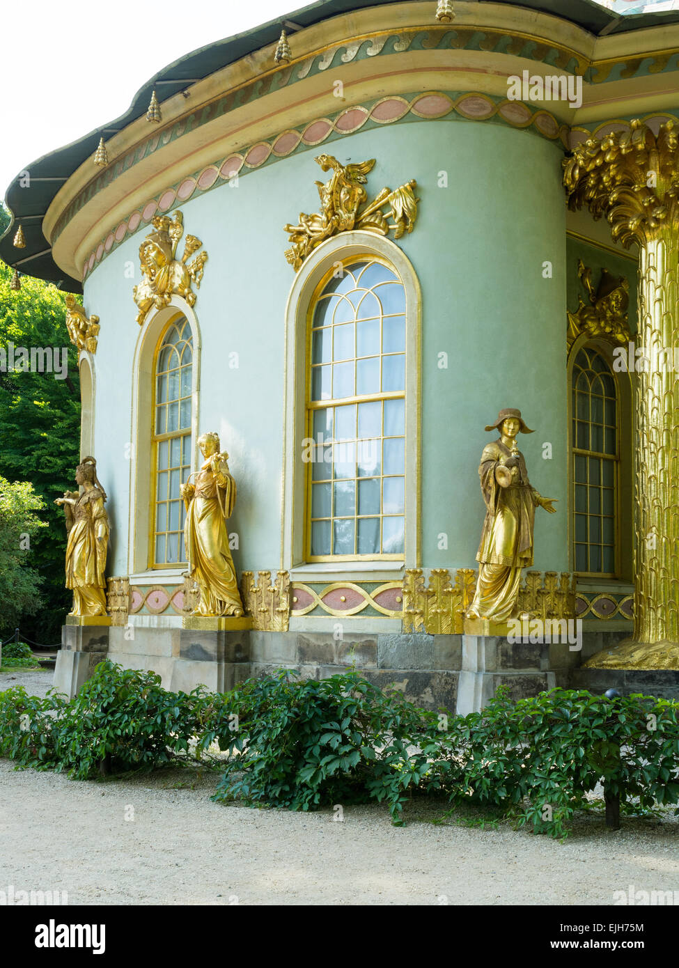 The Chinese tea house, Sanssouci park, Potsdam, Germany - Stock Image