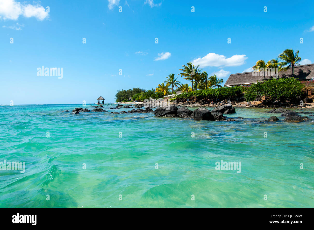 What a beautiful Paradise,where is here,Mauritius - Stock Image