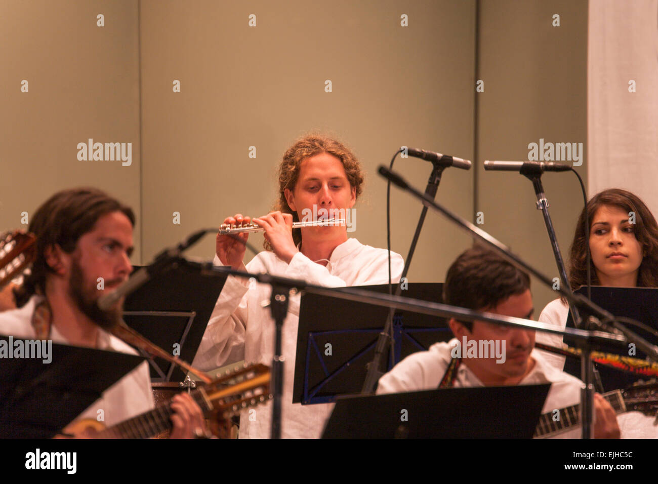 Chilean folk and classical concert in Viña del Mar, Chile - Stock Image
