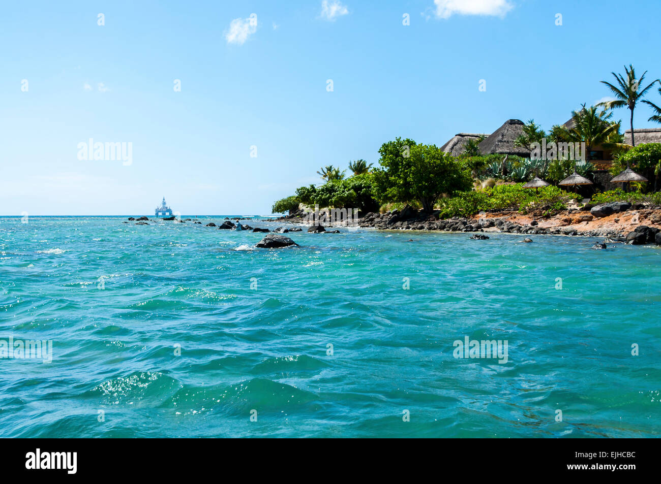 This beautiful country is Mauritius - Stock Image