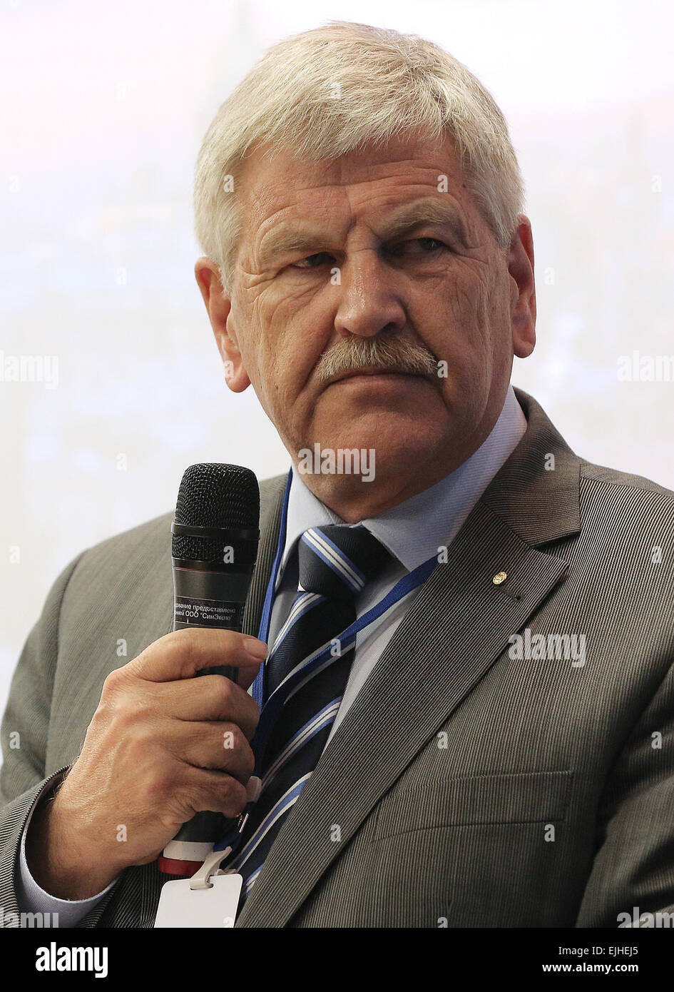 St. Petersburg, Russia. 22nd Mar, 2015. Udo Voigt, member of the European Parliament, attends the 2015 International Russian Conservative Forum in St. Petersburg. © Ruslan Shamukov/TASS/Alamy Live News Stock Photo
