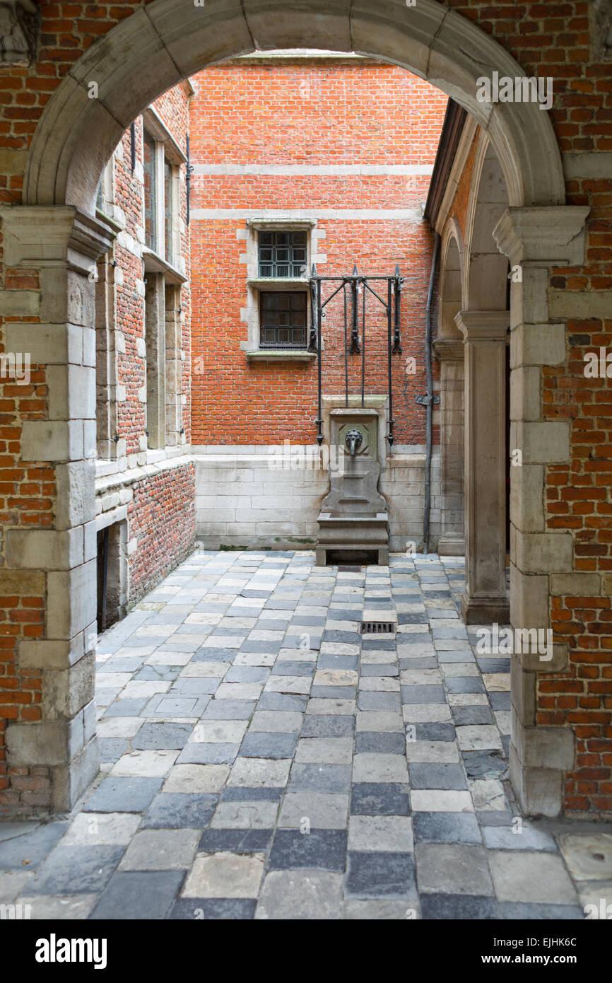 Plantin-Moretus Museum exterior, Antwerp, Belgium - Stock Image