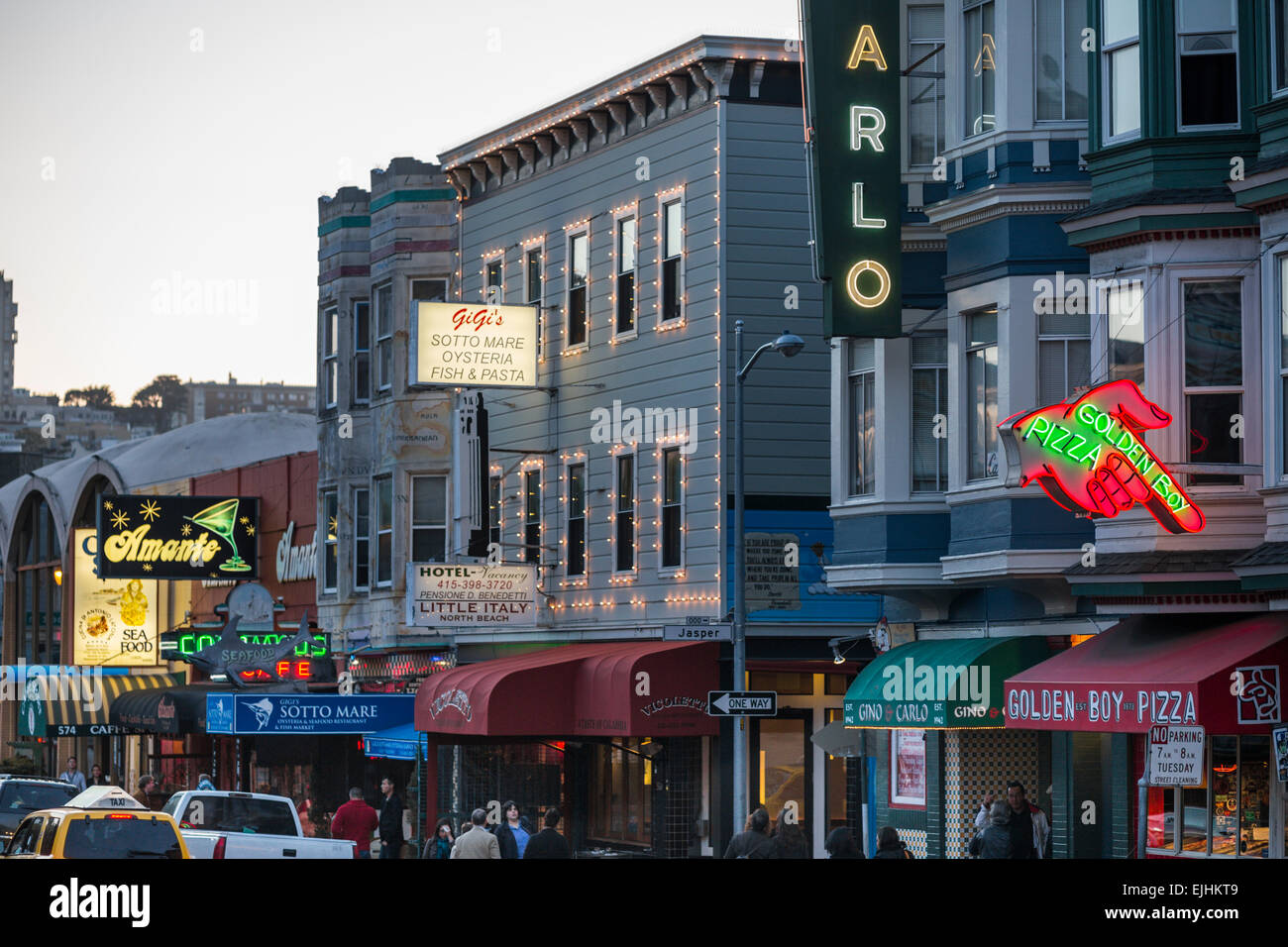 Shops Restaurants Hotels In Little Italy North Beach San