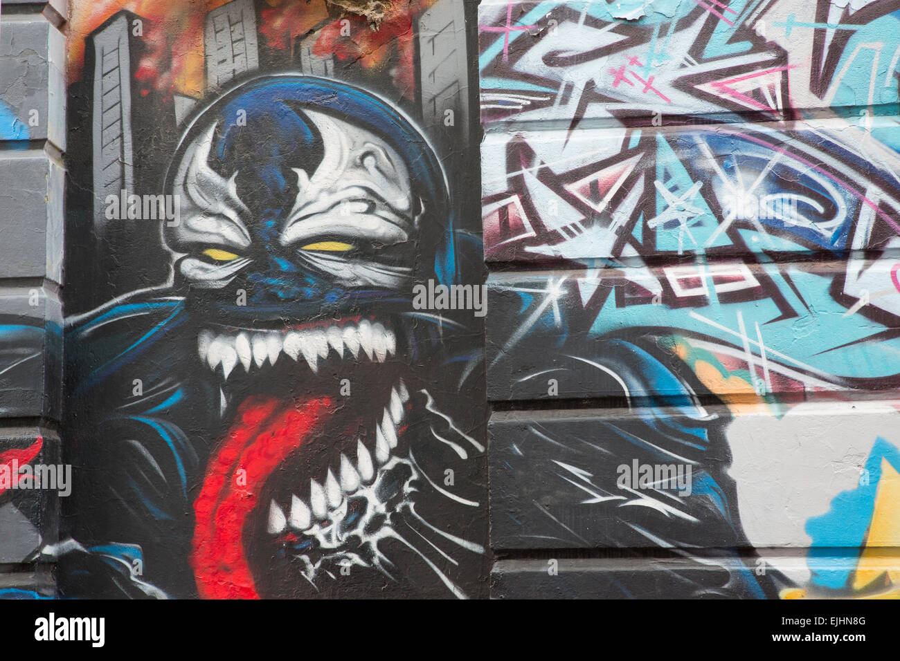 Graffiti - Kipling Street, East Richmond, Melbourne, Australia. Image taken on March 22nd 2015 - Stock Image