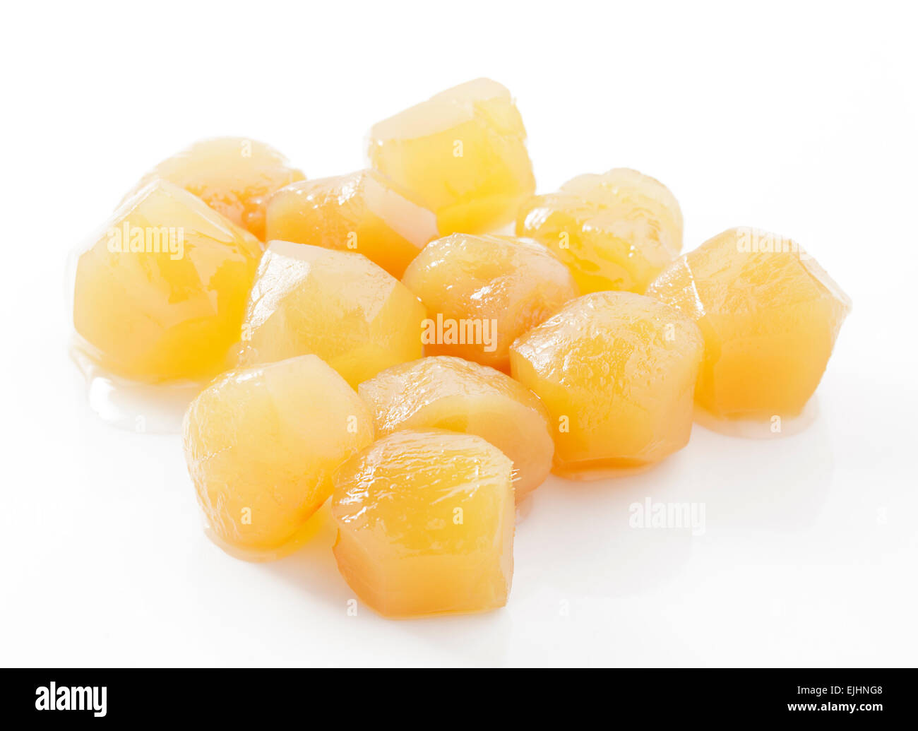 Stem ginger in syrup - Stock Image