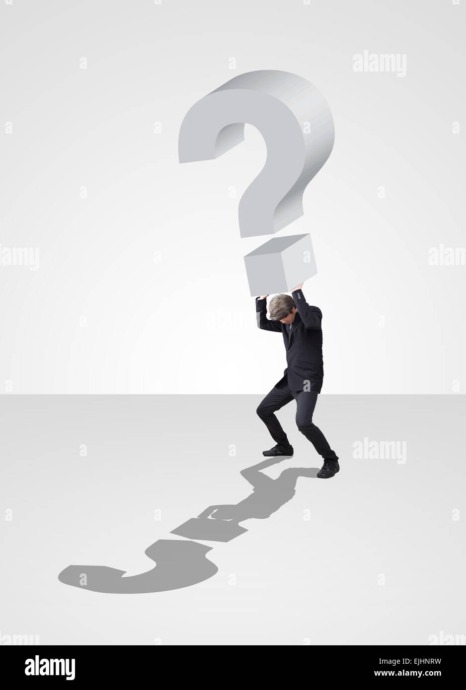 Businessman acting carry problem of business - Stock Image