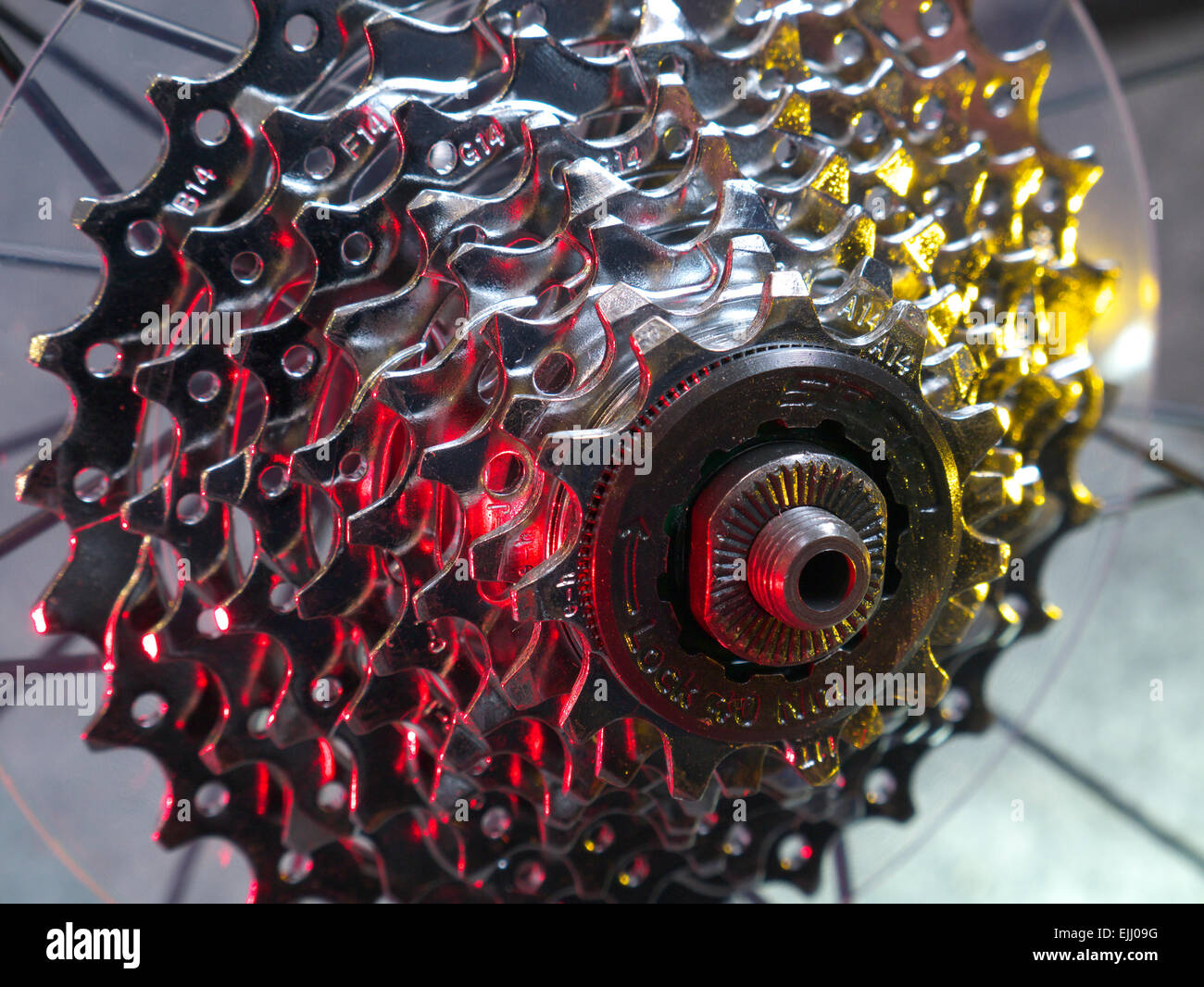 Bicycle cassette - Stock Image