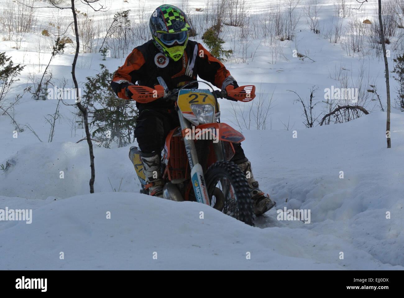Lake Paijanne tour, Roni Nikander, 4th 2015 race - Stock Image