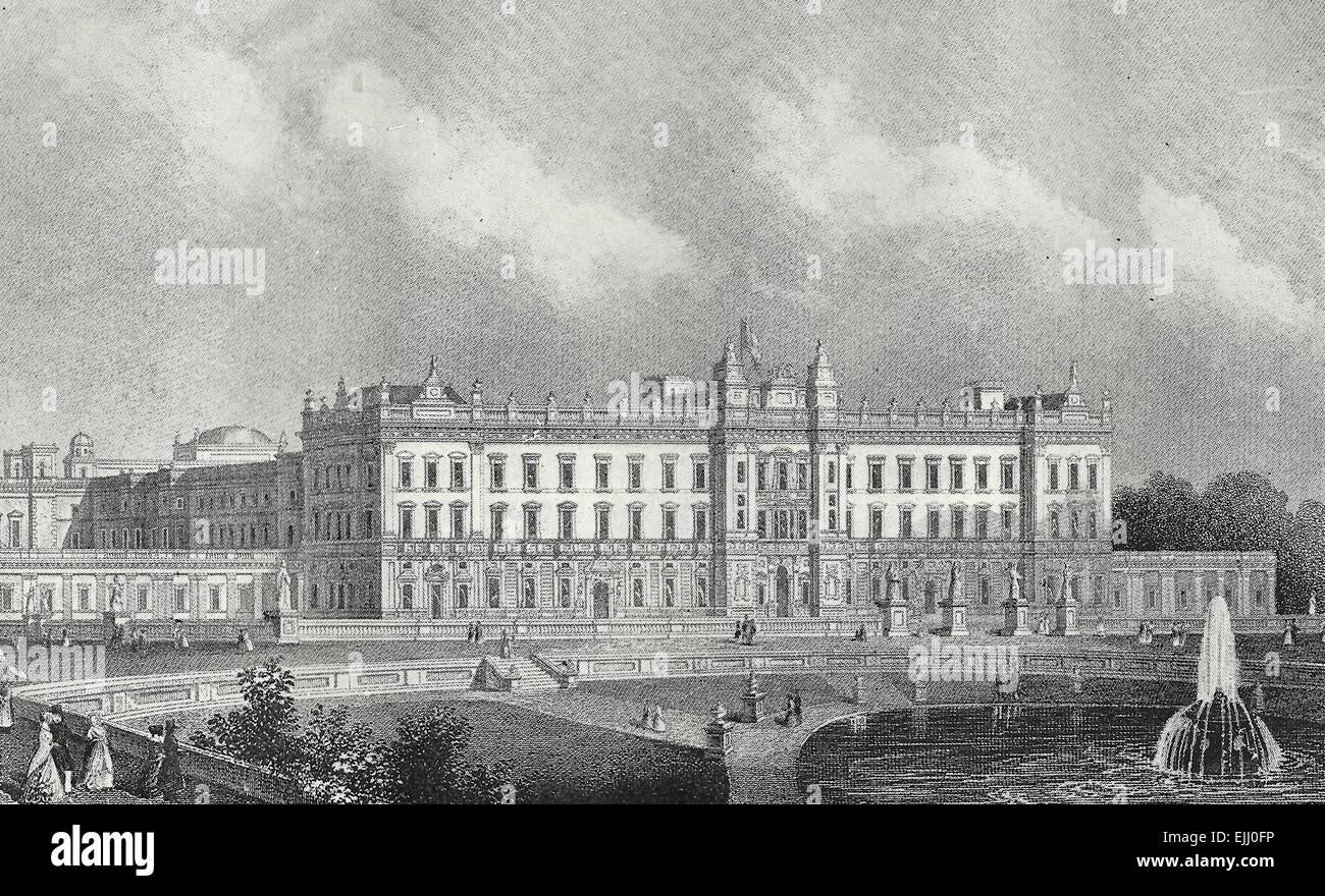 Buckingham Palace, circa 1900 - Stock Image