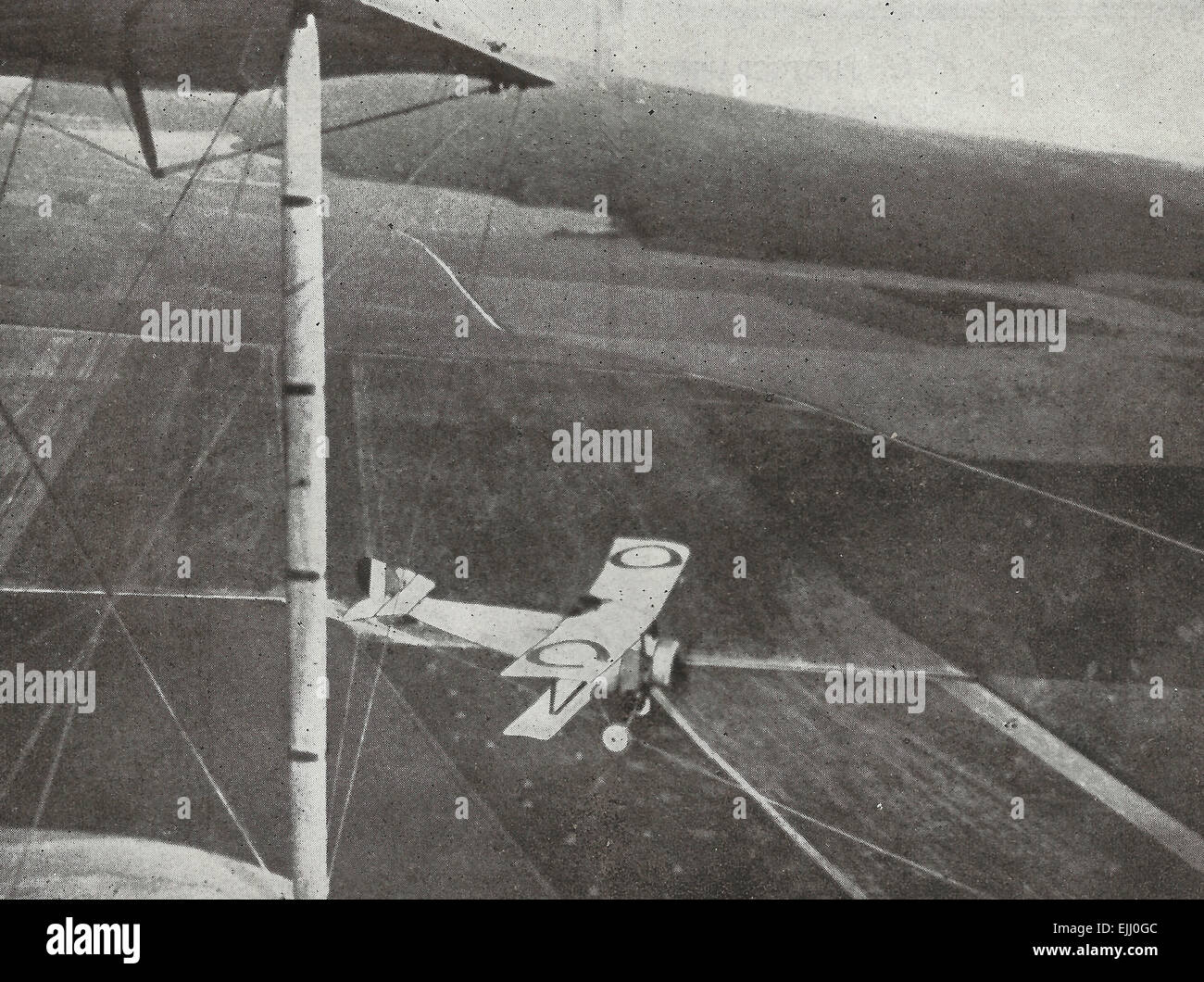 Allied Aeroplane off for a reconnaissance, circa 1917 - Stock Image