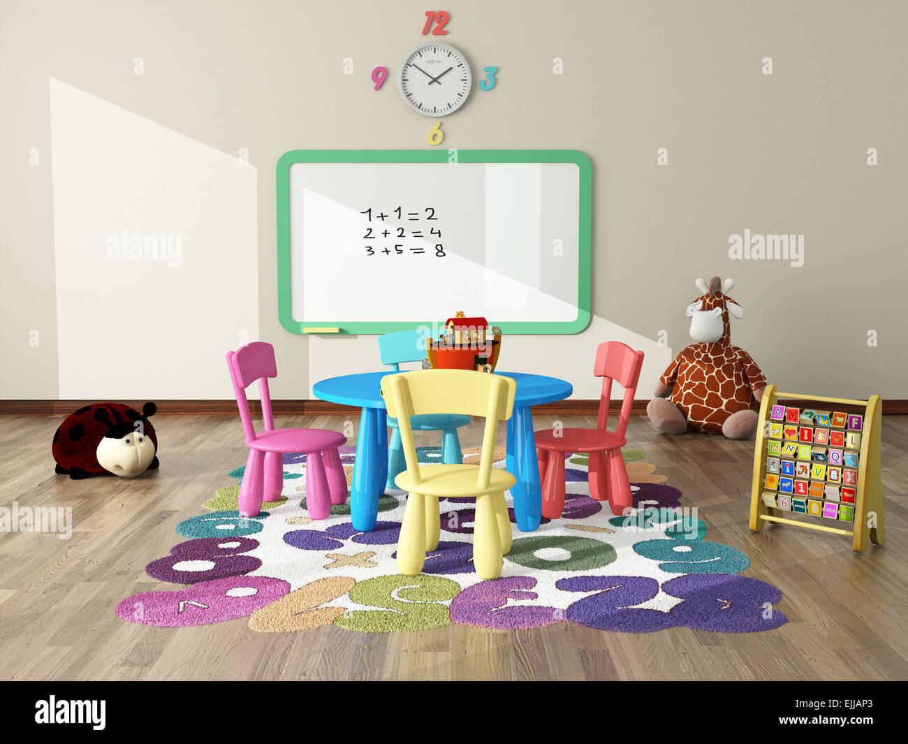 Exterior: Sweet Interior Decor Render For Kids Room By Sedat Seven