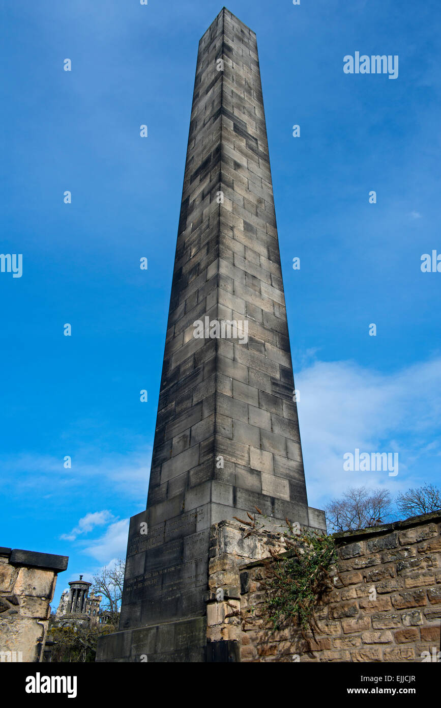 The Political Martyrs Monument in the Old Calton Burial Ground on Calton Hill, Edinburgh, Scotland, UK. Stock Photo