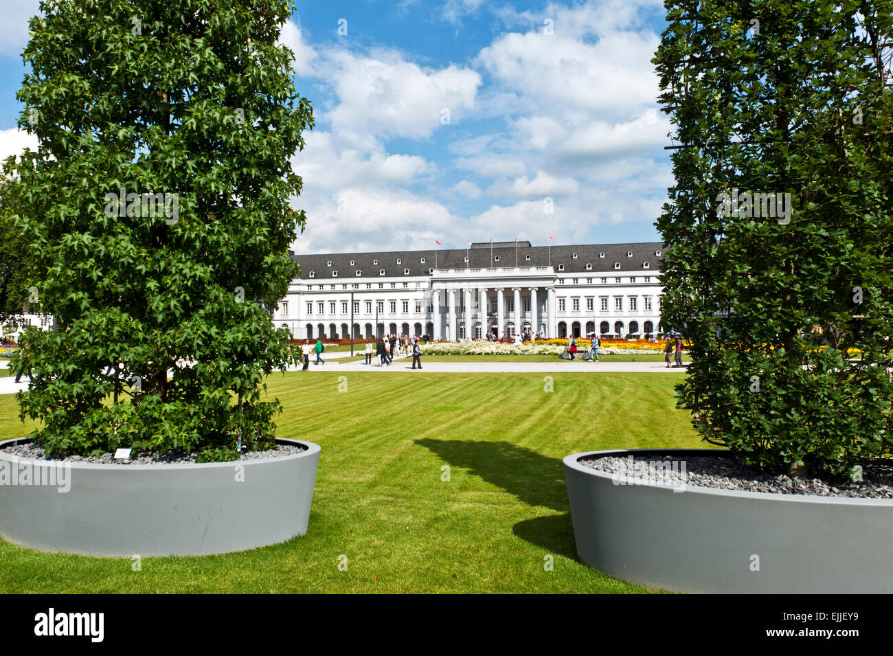 Horticultural show National Garden Festival BUGA 2011 in Koblenz Electoral Castle Rhineland-palatinate Germany Europe Stock Photo
