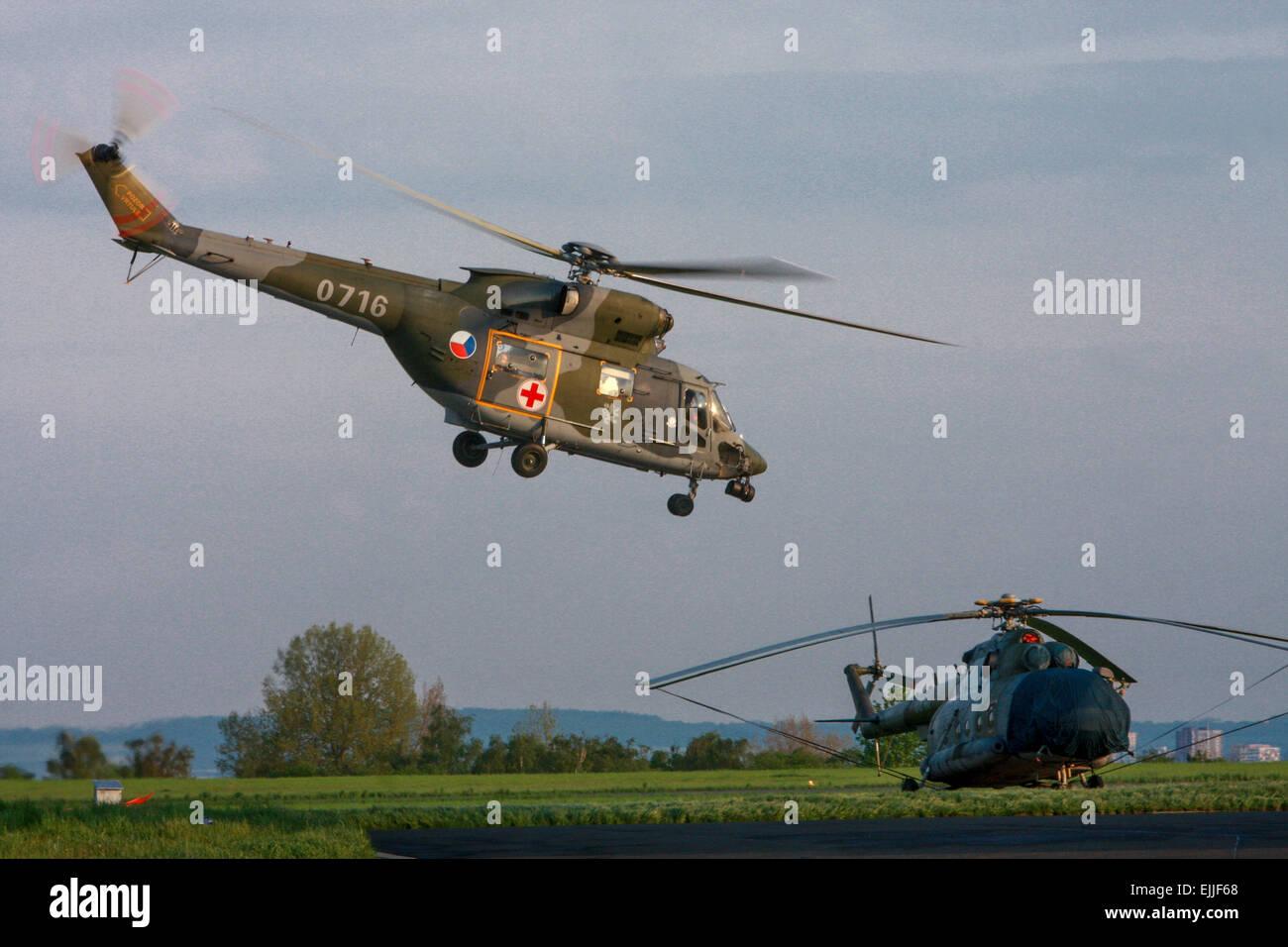 Helicopter W-3A Sokol Czech Army Stock Photo