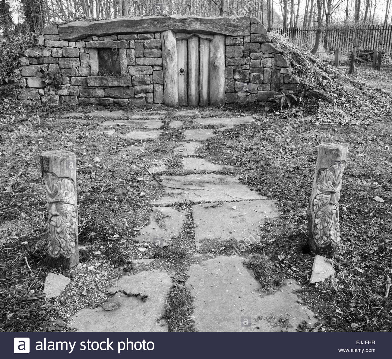 Approach to a Hobbit's home - Stock Image