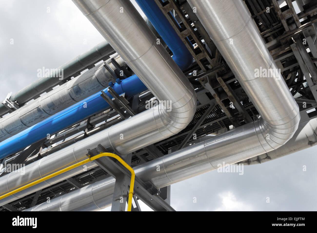 refinery pipeline - Stock Image