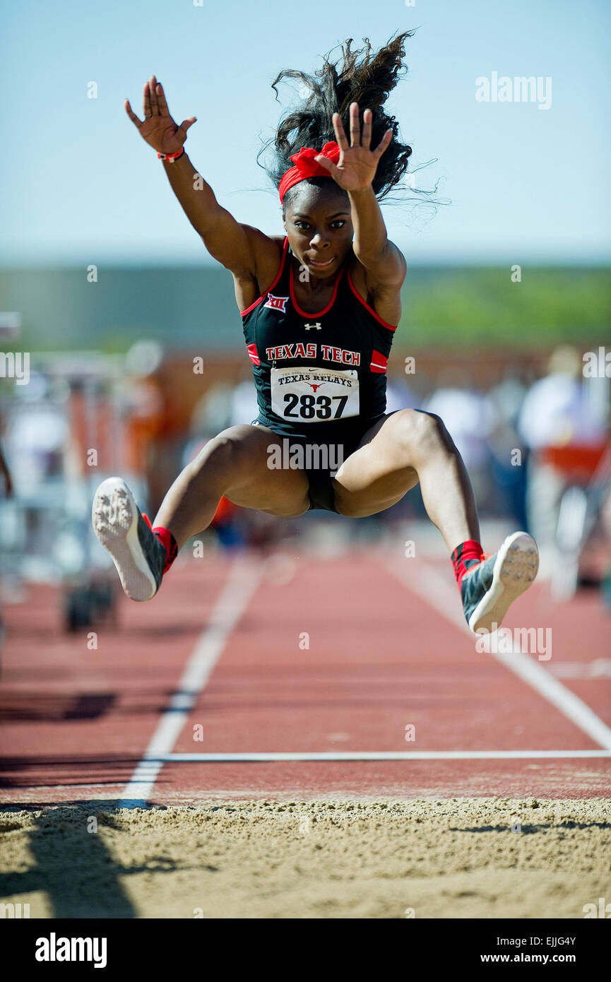 Austin, Texas, USA. 27th Mar, 2015. Texas Tech Paetyn Revell #2837 Women's Long Jump at The 88th NIKE Clyde - Stock Image
