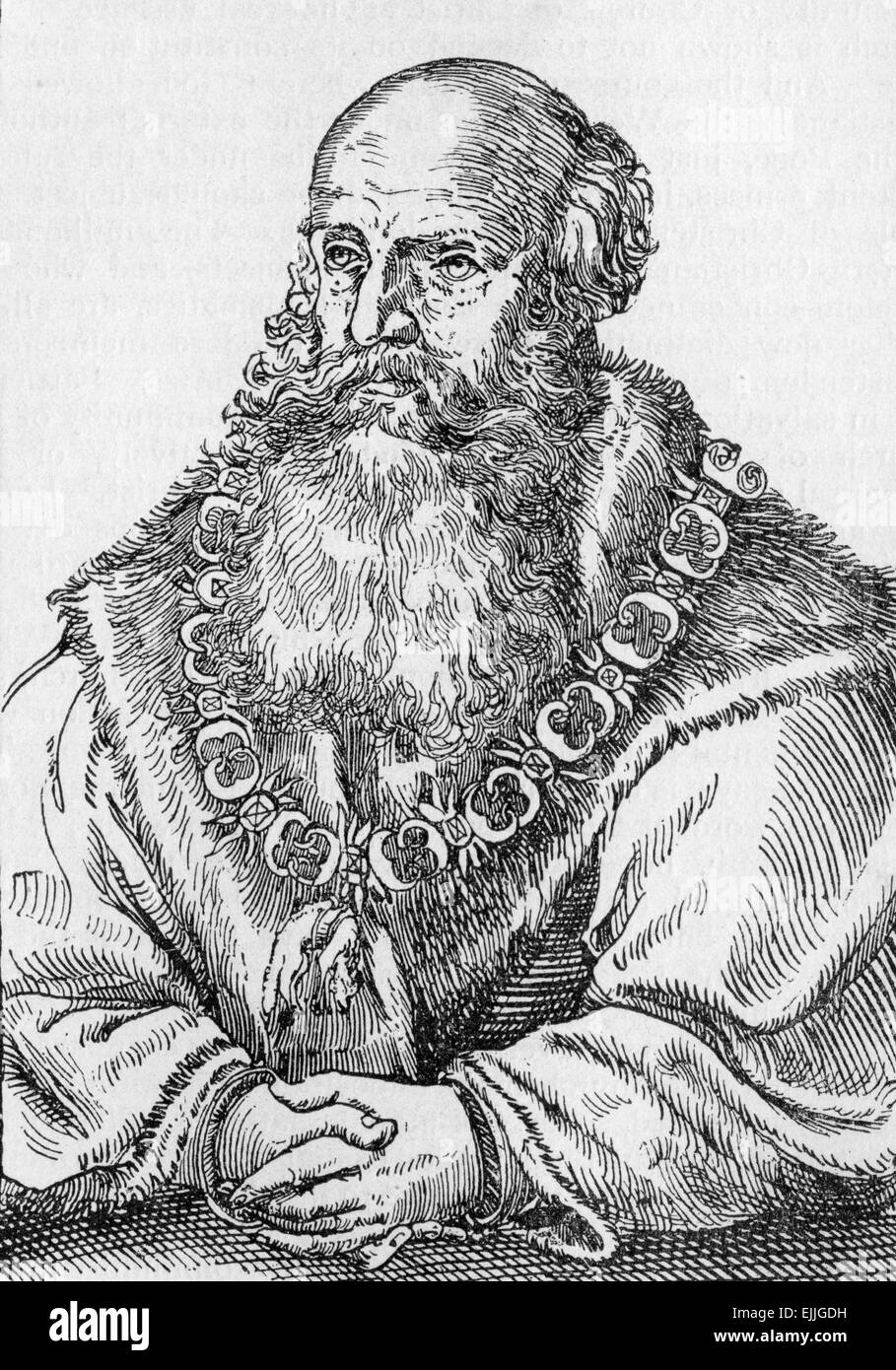 George the Bearded, Duke of Saxony (1471 – 1539), was duke of Saxony from 1500 to 1539 - Stock Image
