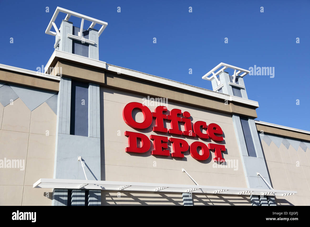 Office Depot, Office Supply Store, Store Front Sign, USA   Stock Image