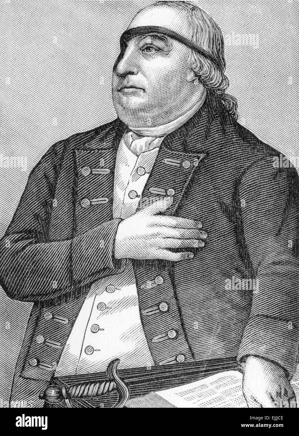 Captain Thomas Webb (1724 - 1796) soldier and minister - Stock Image
