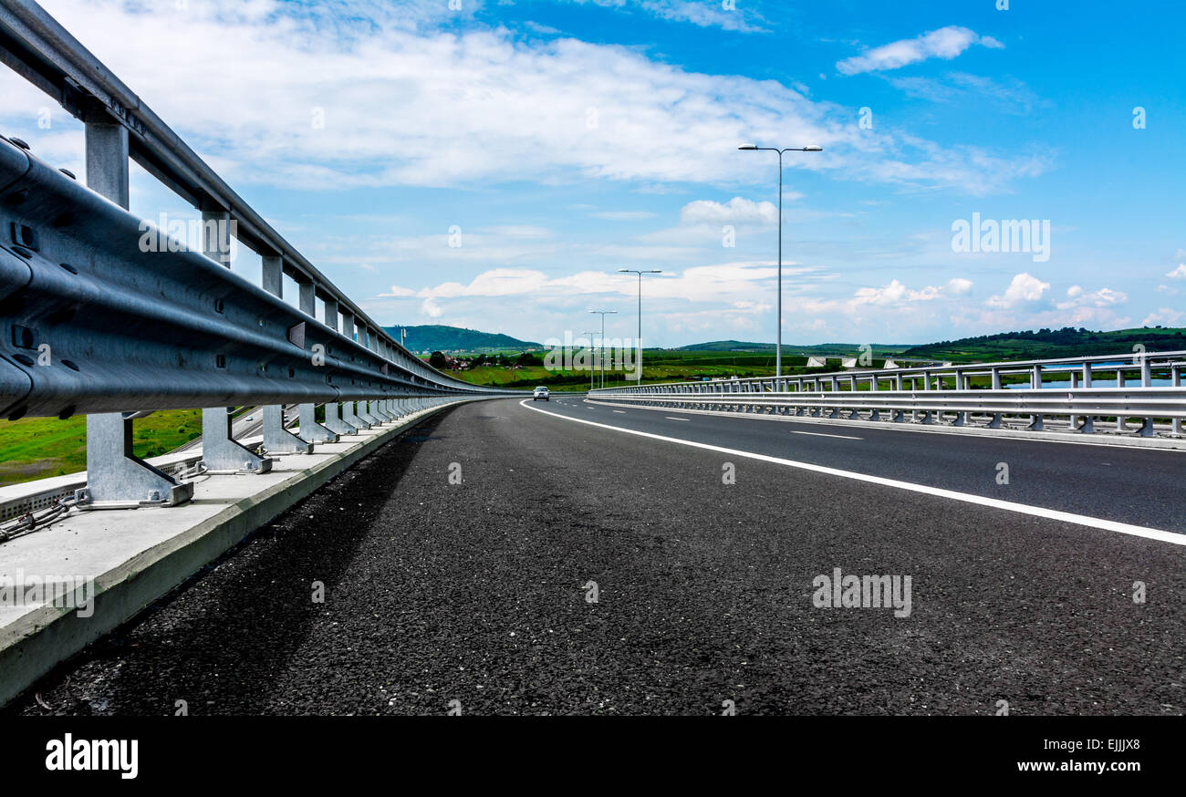 Sibiu - Deva Highway, Romania, Europe. - Stock Image