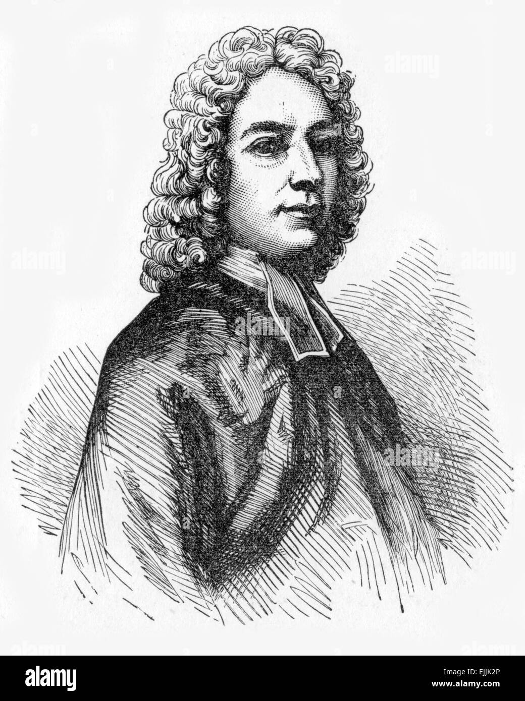 Isaac Watts (1674 - 1748), English hymnwriter, theologian and logician. A prolific and popular hymn writer - Stock Image