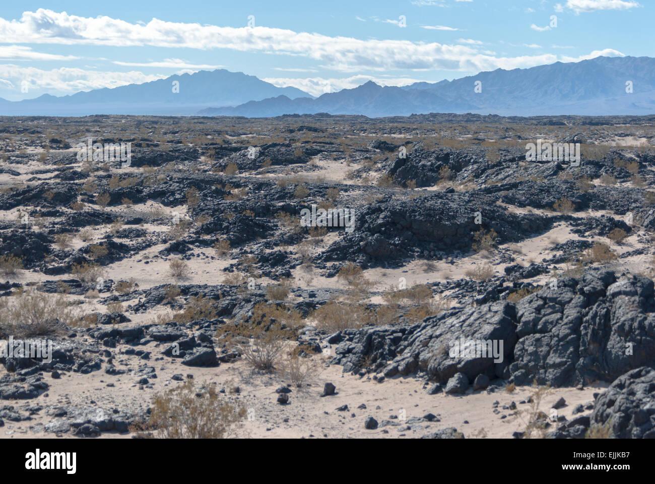 Lava Field Amboy California. - Stock Image