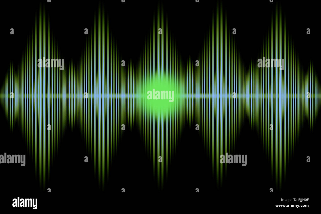 Abstract pulse image that can be used as a medical or technical background. - Stock Image