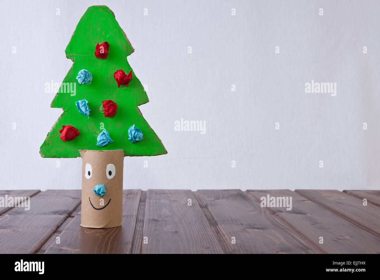 Christmas Tree Using Recycled Materials.Christmas Tree Made Recycled Stock Photos Christmas Tree