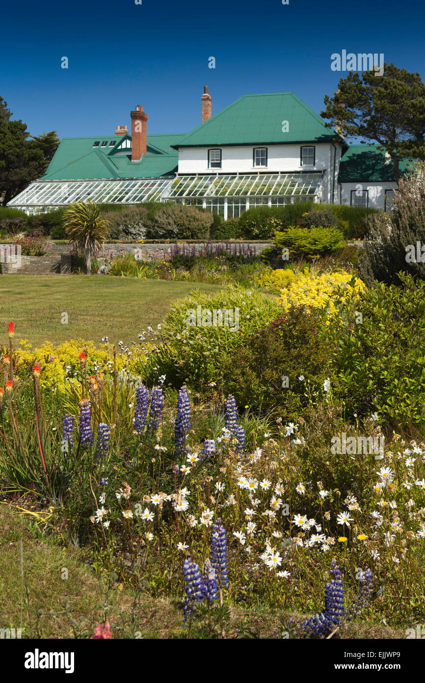 Falklands, Port Stanley, Government House home to Governor of Falkand Islands - Stock Image