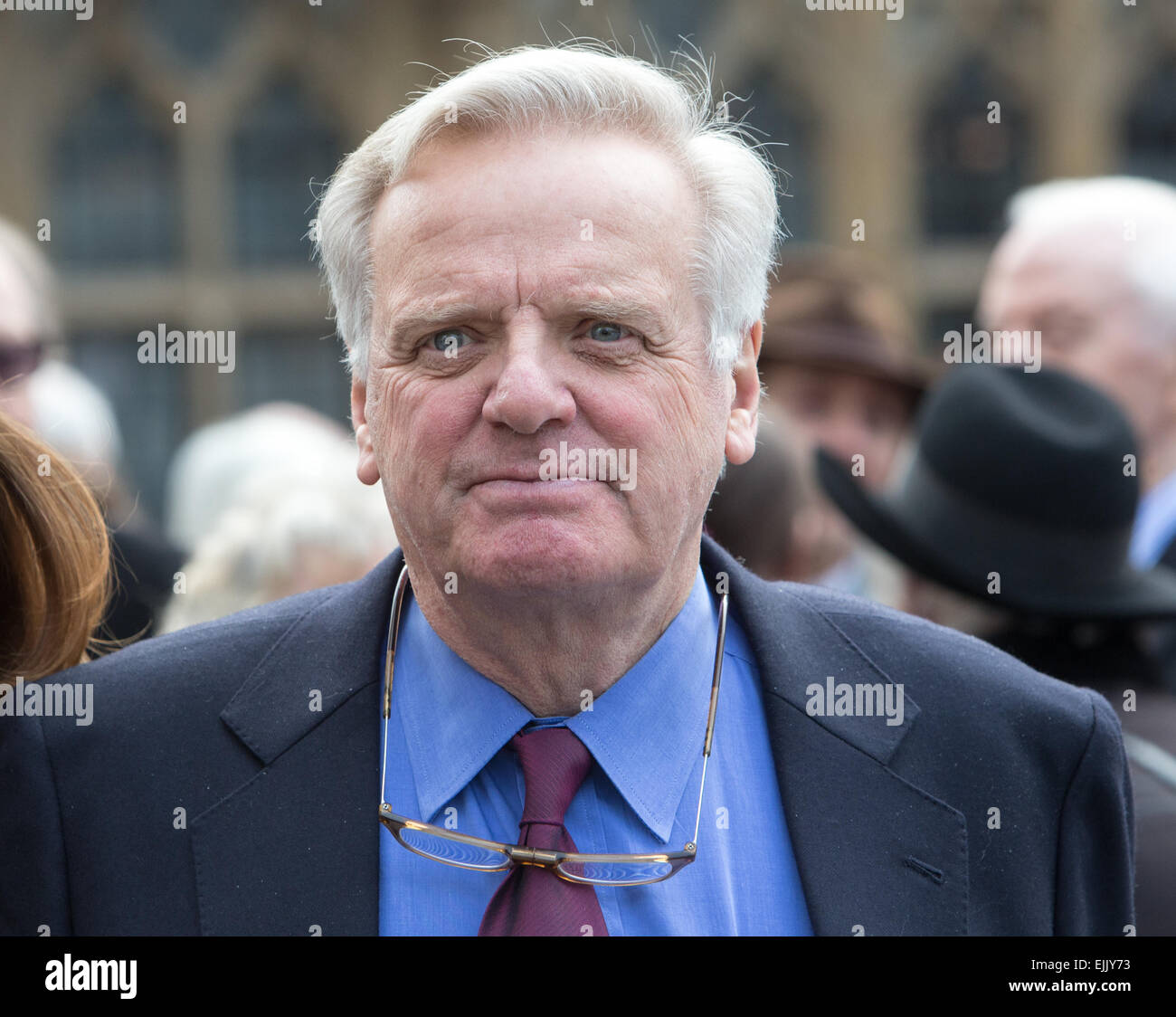 Baron Grade of Yarmouth CBE leaves Westminster Abbey after the memorial service for Sir Richard Attenborough - Stock Image