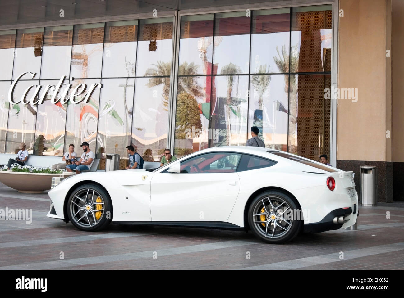 Brilliant White Ferrari F12 Berlinetta Coupe Motor Car Stock Photo Alamy