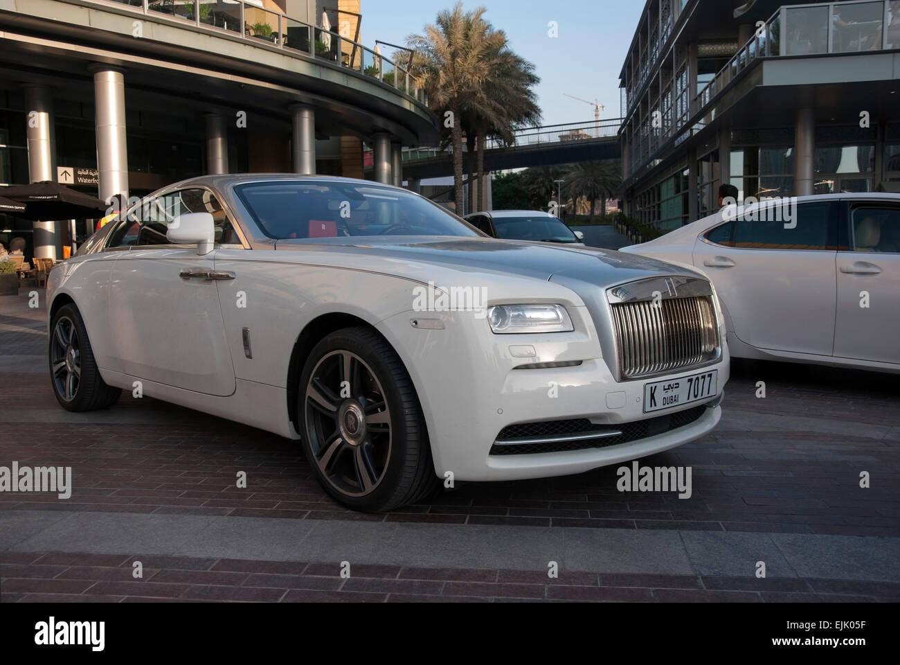 White Chrome Rolls Royce Wraith Coupe Motor Car Stock Photo Alamy