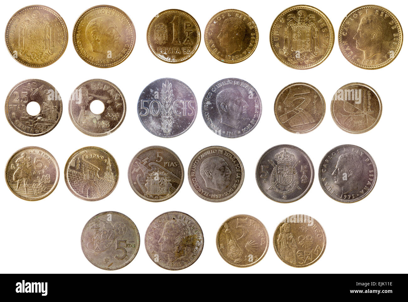 pictures of spanish coins