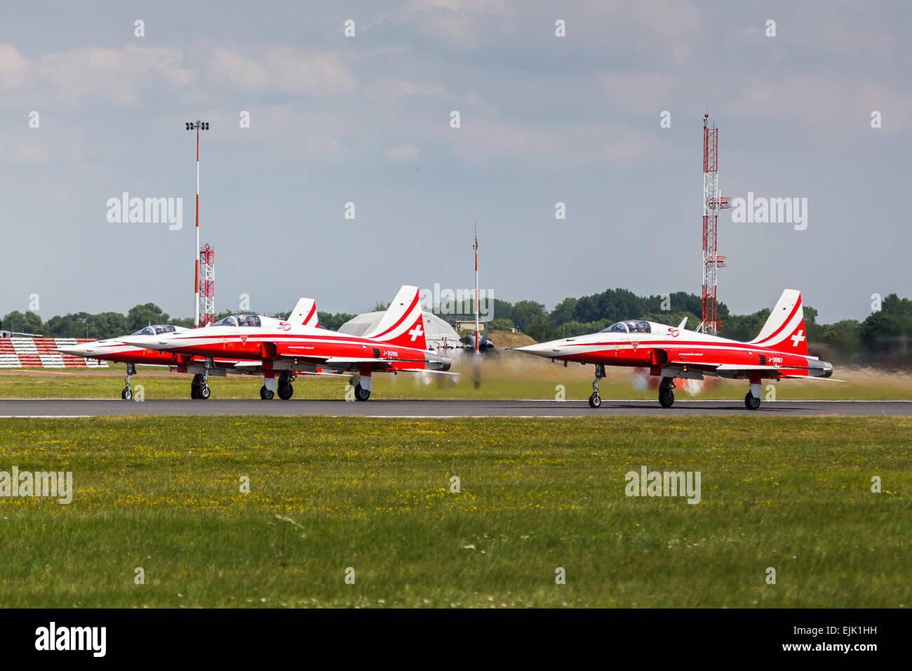 Patrouille Suisse at RAF Fairford. - Stock Image