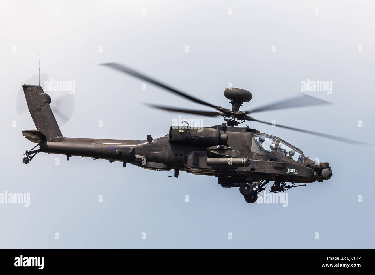 Apache at RAF Fairford. - Stock Image