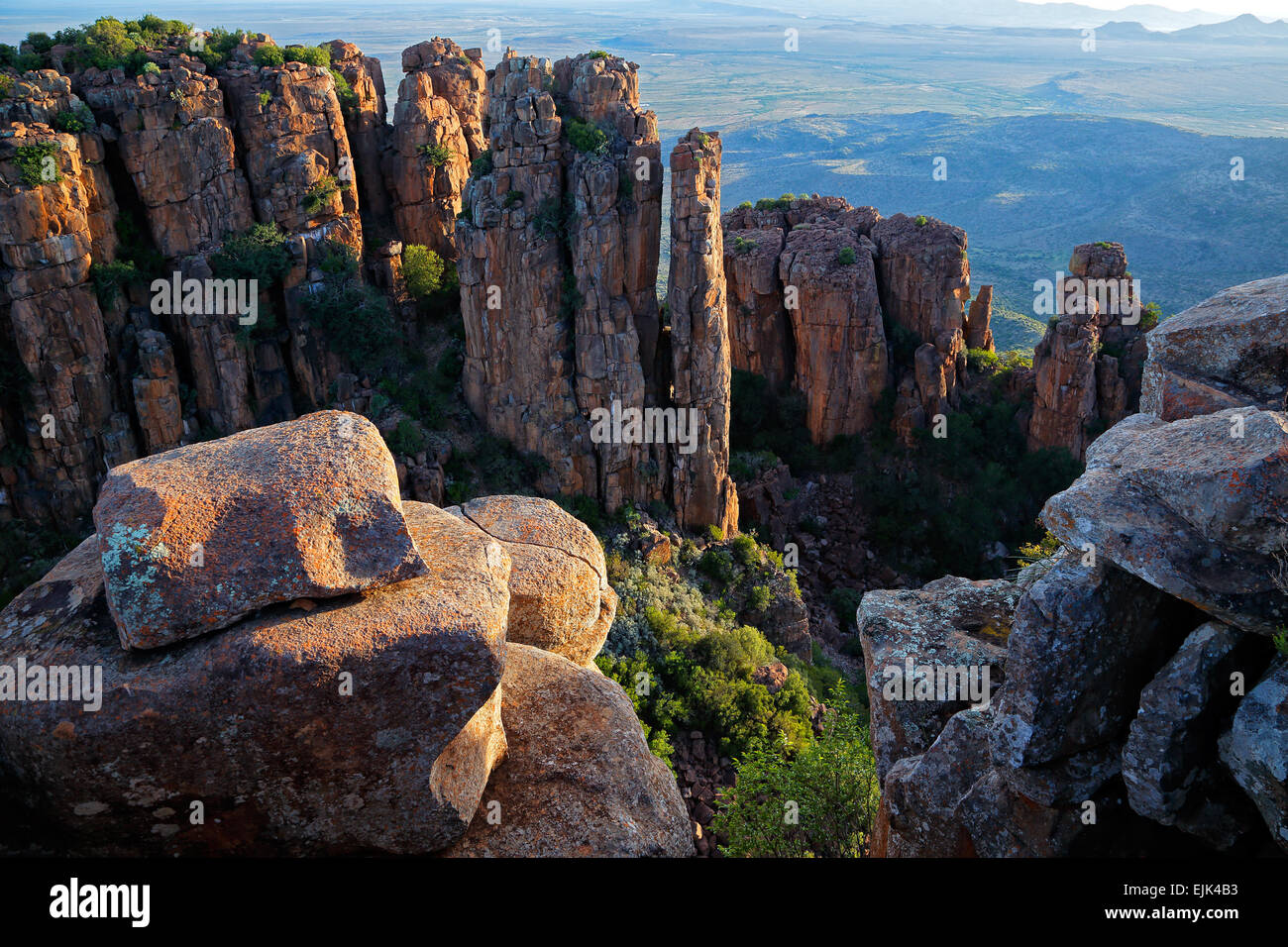 Valley of desolation, Camdeboo National Park, South Africa Stock Photo
