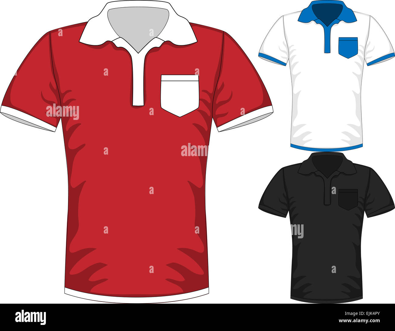 Vector Mens Short Sleeve T Shirt Polo Design Templates Stock Photo